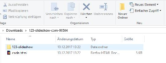 Bild: You'll receive a ZIP folder as follows...